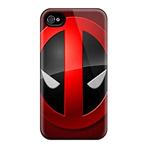 Faddish Phone Deadpool Face Case For Iphone 4/4s / Perfect Case Cover