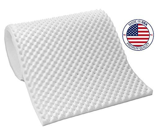 Vaunn Medical Egg Crate Convoluted Foam Mattress Pad – 3″ Thick EggCrate Mattress Topper (Standard Twin Bed 38″ x 75″ x 3″) – Made in USA