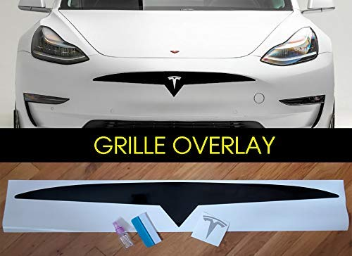 Custom Front grille bumper Decal sticker compatible with exterior decorative accessories for Tesla Model 3 /& Model Y Many styles available