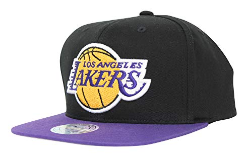 Mitchell & Ness NBA Los Angeles Lakers 2 Tone Snapback Adjustable Cap