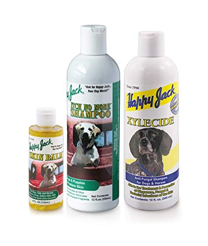 Happy Jack Animal Skin Balm-Itch No More Dog Shampoo & Xylecide Antifungal Shampoo 1 Each 3 Total
