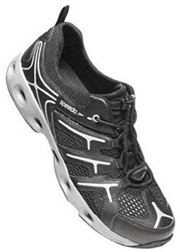 Speedo® Mens Hydro Comfort 3.0 Water Shoe (13 D(M) US, Black/Frost Grey)