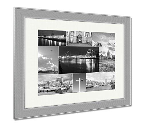 Ashley Framed Prints Dublin Photos Collage  Wall Art Home Decoration  Black White  30X35  Frame Size   Silver Frame  Ag5678713