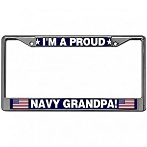 Amazon Com License Plate Frame Tag I M A Proud Navy