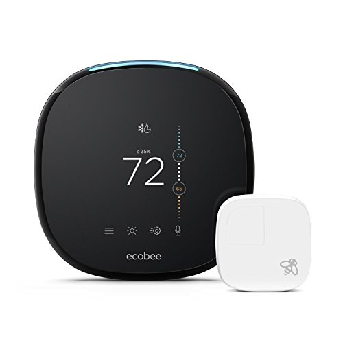 ecobee4 Alexa-Enabled Thermostat with Sensor, Works with Amazon Alexa by ecobee