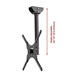 Loctek CM1 Adjustable Tilting Wall Ceiling TV Mount Fits most 26-55'' LCD LED Plasma Monitor Flat Panel Screen Display