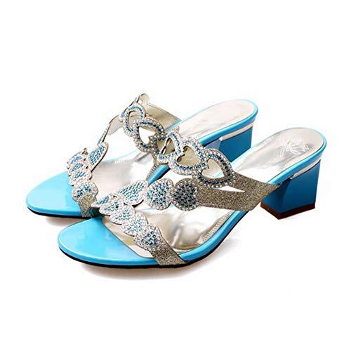 SLC04457 Blue Blu Ballerine AdeeSu 35 Donna fSdwRRq4