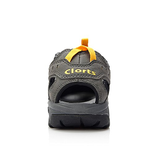 Clorts Mens Chiuse-toe Escursioni Sandalo Sport Allaria Aperta Pescatore Atletico Sandalo Acqua Sd206 Grigio