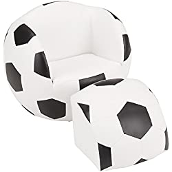 Fat Catalog Kids Soccer Ball Chair w/Stool, ALT-SF-127