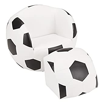 Superieur Fat Catalog Kids Soccer Ball Chair W/Stool, ALT SF 127