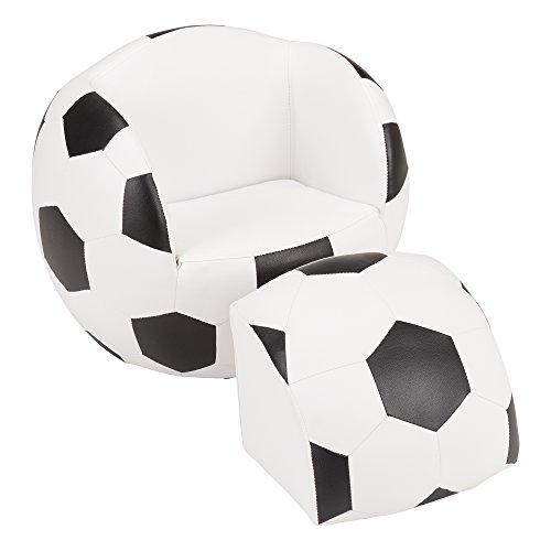 Fat Catalog Kids Soccer Ball Chair w/Stool, ALT-SF-127