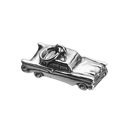 Real Sterling Silver 925 3D Car Sterling Silver vehicle Charm 57 chevy (Chevy Charm)