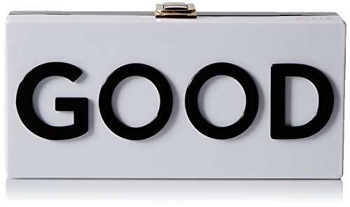 MILLY Good/Bad Box Clutch, Black/White, One Size by MILLY
