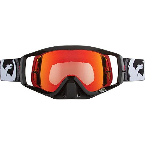 Dragon Alliance Bullet with 10 Packs Tear Off Unisex Vendetta Off-Road Goggles Eyewear, Red Ionized, One Size (Dragon Vendetta Goggles)