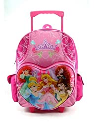 Princess 16 Rolling Backpack Cinderella Brave Mermaid Snow White