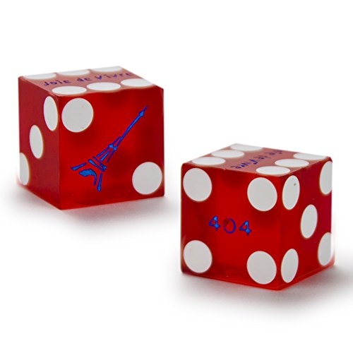 Pair (2) of Official 19mm Casino Dice Used at the Paris Las Vegas Casino by Brybelly