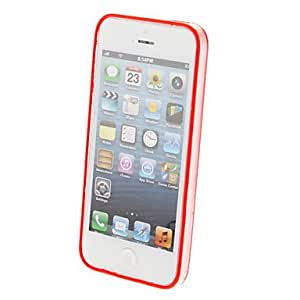 Special Design Extra-thin Transparent Bumper Frame for iPhone 5/5S (Assorted Colors) , Red