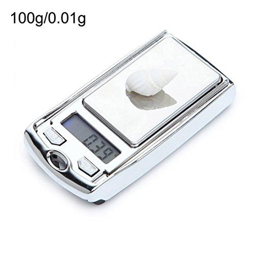 Balance Dinner (Vacally Mini Digital Kitchen Scale Balance Slim Stainless Steel Electronic Scales Jewelry Gold Scale Small Electronic Precision Scale (Silver B))