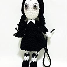 Wednesday Addams amigurumi doll
