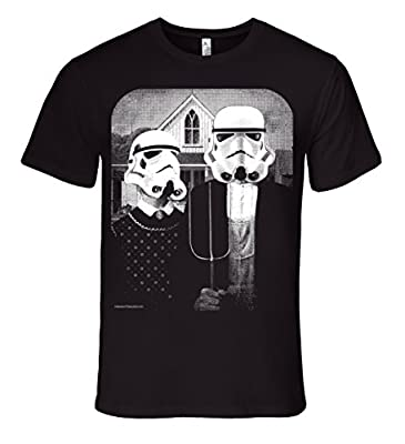 Mission Thread Clothing Mens Star Wars Storm Trooper American Gothic T-Shirt