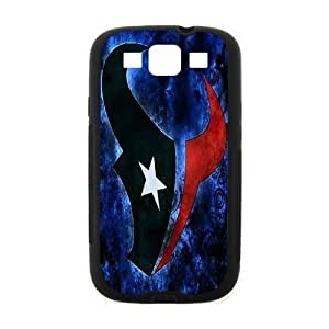 Blue background Houston Texans Powerful For Samsun Galaxy S4 I9300 Cover