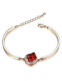 Yoursfs Dainty Women's Elegant Crystal Bracelet 18k White/Rose Gold Plated Fashion Jewelry