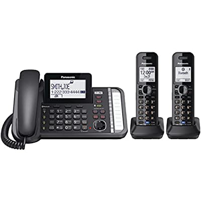 Panasonic KX-TG9581B Link2Cell DECT_6.0 1-Handset 3-Line Digital Cordless Phone