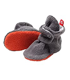 Cozie Booties (12M,gray/gray)