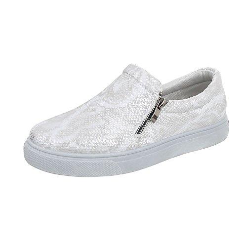 Sneaker Argento Low Sneakers Scarpe Piatto Donna Ital design Da q7PII8