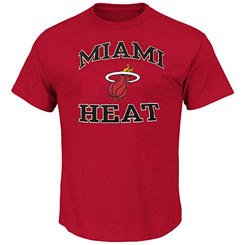 Miami Heat T-shirt (Majestic Men's Big & Tall NBA Heart and Soul T-Shirt (2XT, Miami Heat))