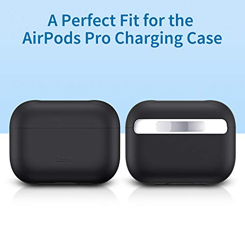 Slim-Fit ESR Protective Silicone Cover for AirPods Pro Case Visible Front LED Hingeless Yellow Shock /& Scratch-Resistant Ultra-Thin Case Skin for AirPods Pro Charging Case