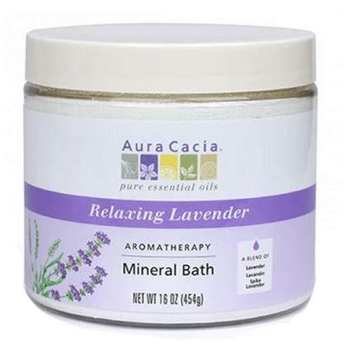 Aura Cacia Lavender Harvest Aromatherapy Mineral Bath Salt, 16 Ounce - 3 per case.