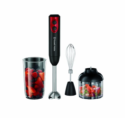 Russell Hobbs 18980 Desire 3-in-1 Hand Blender, 400 W - Black and Red