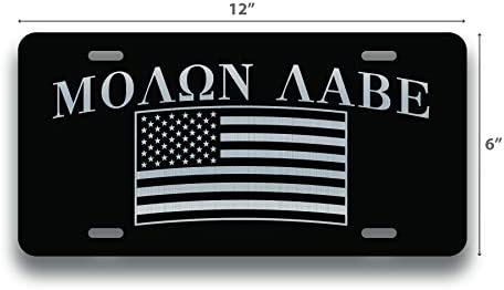 Don/'t Tread on Me Gadston Flag 2nd Amendment Embossed License Plate 6x12 inches
