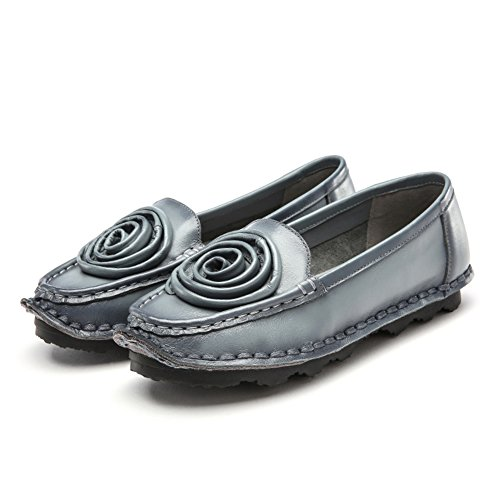 zapatos de tacón bajo planas/zapatos de moda de primavera todo el año en la boca/ Cuero suave zapatos inferiores D