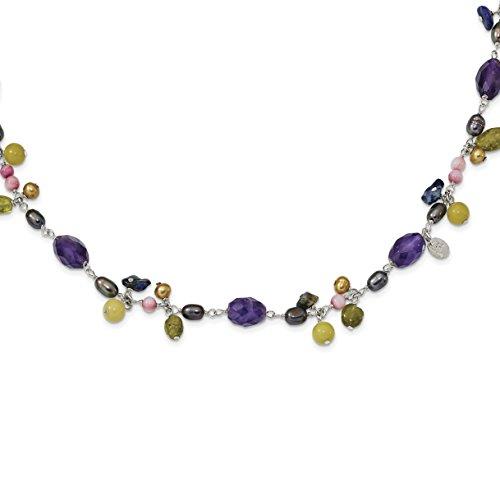 Cultured Pearl Jade Necklace - 8