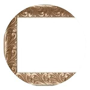 alfombrilla de ratón Marco del oro con la decoración de la hoja en tono sepia - ronda - 20cm