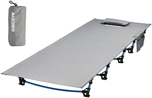ALPHA CAMP Oversized Camping Cot Support 500 LBS Aluminum Sleeping Bed Portable for Outdoor Indoor