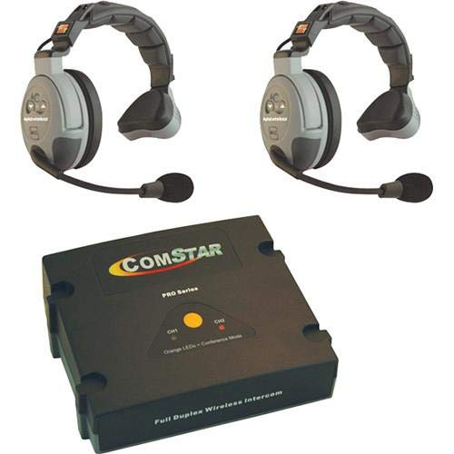 Eartec Comstar XT-2 2 Person Full Duplex Wireless Intercom System, Single Ear Headsets ()