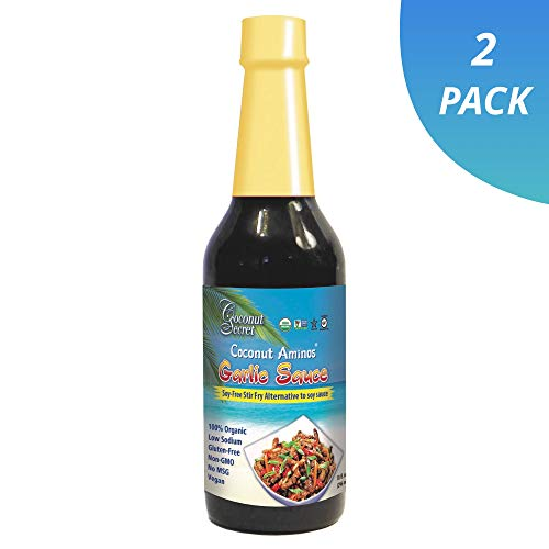 Coconut Secret Coconut Aminos Garlic Sauce (2 Pack) - 10 fl oz - Low Sodium Soy-Free Seasoning Sauce, Low-Glycemic - Organic, Vegan, Non-GMO, Gluten-Free - 120 Total Servings