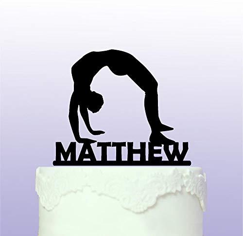 Personalised Male Gymnastics Cake Topper Gym Gymnast by Tamengi