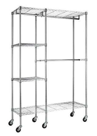 edsal Sandusky ezgr4818-rw3 acero ropa Rack, 2 estantes ajustables, 2 ajustable media