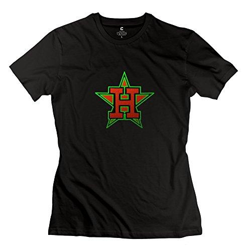 HUIMIN Women's H-Town T-shirt S
