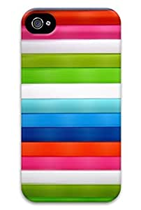 cool-gg Colored cloth stripe combinations PC Hard new Good feel case for iphone 4 / 4s