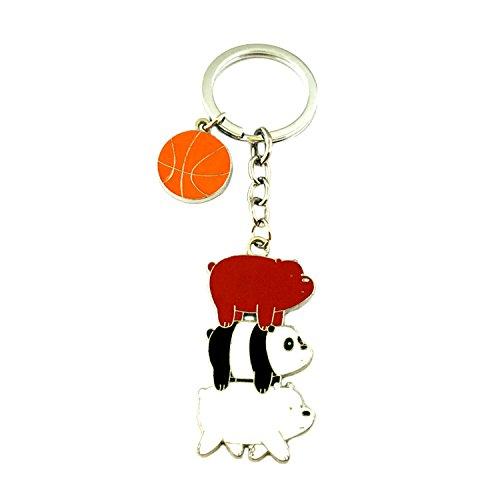 We Bare Bears Cartoon Key Ring Keychain for House Boat Auto Keys