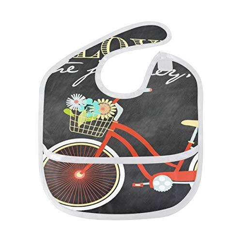 Baby Bibs Special Bicycle Poster Large Teething Unisex Waterproof Drooling Bib/Smock