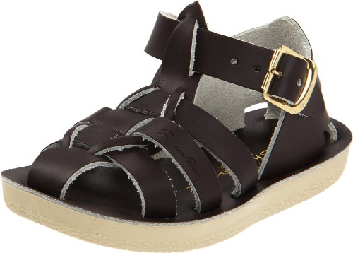 (Salt Water Sandals by Hoy Shoe Sun-San-Sharks,Brown,9 M US Toddler)