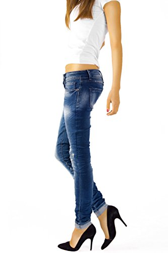 slim Azul jeans pantalones tubo mujer de j03f Bestyledberlin jeans nPq5Y6xd