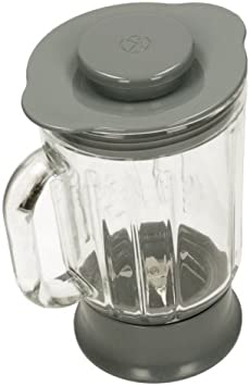 Kenwood KH326WH Multi-One - Recipiente de cristal para robot de cocina, color gris: Amazon.es: Hogar
