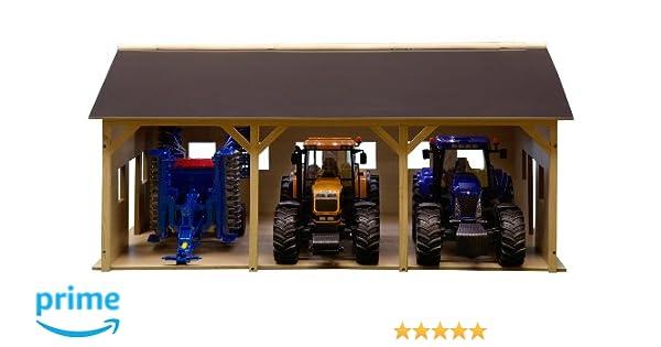 Van Manen 610340 - Cobertizo para 3 tractores Brüder (55 x 77 cm, escala 1:16): Amazon.es: Juguetes y juegos